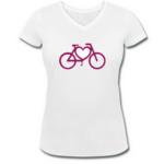 Fahrrad-Herz-Shirt